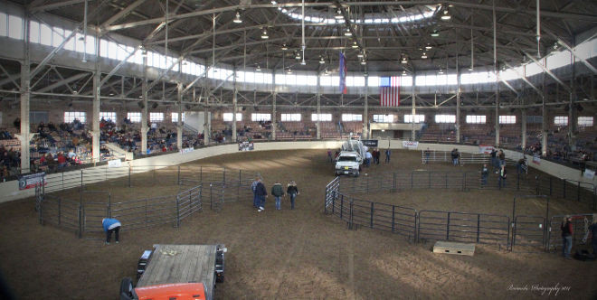 Setting up for the Heartland Horsemen's Challenge!